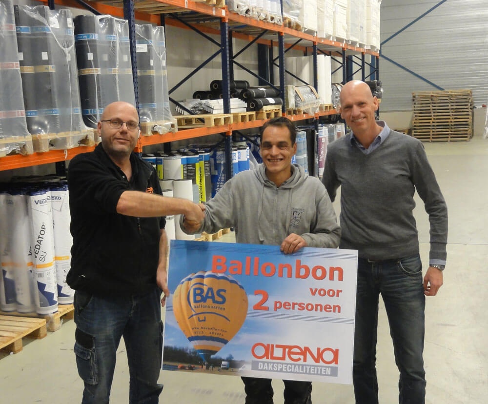 prijsuitreiking Altena ballonvaart